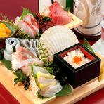 名物 市場直送鮮魚の階段盛り SNS映えも!