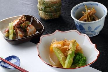 旬素材のそのままの風味&美味しさを楽しめる『前菜3種』