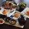 ランチメニュー、一番人気。ステーキとシーフードを味わえる満足感重視『ボリュームランチコース』