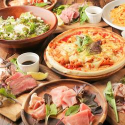 インパクト抜群の当店お肉! 牛タンとタリアータを両方味わえる贅沢なコース