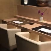 2名様用のカウンター席や完全個室で、特別で優雅なひとときを