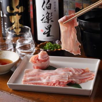 【1番人気】日向あじ豚のしゃぶしゃぶとおでんのコース3,500円