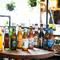 ビールは瓶で提供が基本。思わず写真を撮りたくなるラインナップ