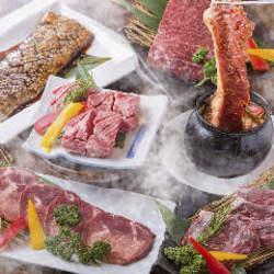 『牛タン』や『牛カルビ』などの牛肉や『ビビンバ』などの逸品を満喫できる全11品のコース!