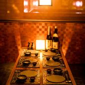 心地良いサービスと心尽くしの料理で、落ち着ける空間を演出