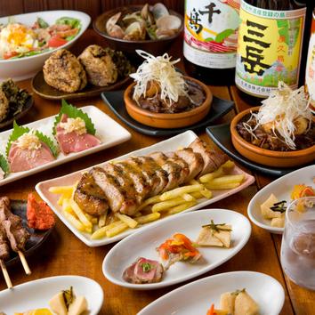 ●豪華8品+飲み放題2時間付き 特選豚肉宴会コース