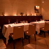 改まった会食に使いたい、洗練されたラグジュアリーな空間