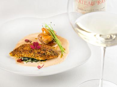 季節の魚介の美味しさに魅了される『真子鰈 ムール貝 松葉 紅アカリ』