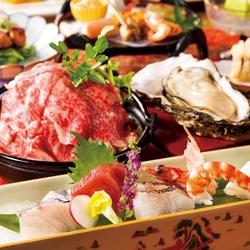 接待人気NO1『四季の本格会席コース』。別邸名物~「松阪牛のしゃぶすき小鍋」をメインに夏の美味を満載