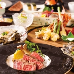 ~こだわりの食材「伊勢海老」「黒毛和牛」「岩牡蠣」など夏の美食をお楽しみ下さい。