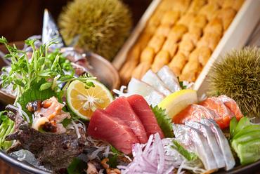 当日仕入れ鮮魚の刺身盛り
