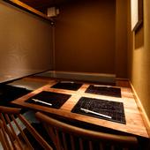"""和モダンで洗練された上質な空間が""""ワンランク上の時間""""を演出"""