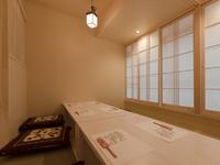 掘りごたつ式座敷の個室は、会食や接待にもぴったり