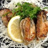 広島産 牡蠣鉄板焼き バターポン酢