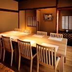 人数によって部屋の大きさを変えられる個室、宴会での利用に最適