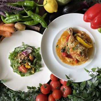 【ランチ】農家野菜とビストロ料理のお昼ごはん