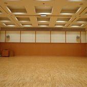 最大45名までの集まりに使えるフロアの他、大ホールもあり