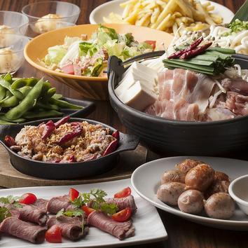 【2時間宴会】◆鶏白湯鍋のまんぷくコース◆9品+飲み放題