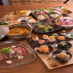全9品★平日女子会限定★京都農園のお野菜が多数楽しめるコース料理をご用意しました 2時間飲み放題付