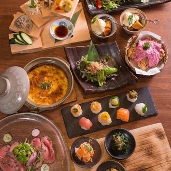 【ランチセットメニュー】お野菜と海鮮の手毬寿司ランチ
