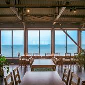 どの席からも見える、瀬戸内海を一望する絶景