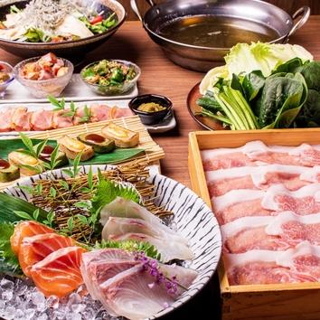 【食べ放題平日限定】国産銘柄豚しゃぶしゃぶコース2500円(税込)
