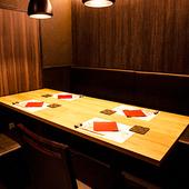 3タイプの個室を完備。少人数の接待・会食から宴会まで対応