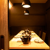 プライベート個室で、静かな空間を演出いたします。