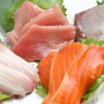 季節ごとのおすすめを!『盛り合わせ』で鮮魚三昧