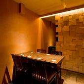 完全個室から半個室まで、ニーズに合わせて使える個室