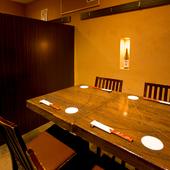 最大50名までの貸切宴会ができる、広い宴会スペース
