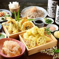 揚げたてKITSUNE・創作天ぷらの中でも野菜天ぷらなども楽しめるリーズナブルなコース
