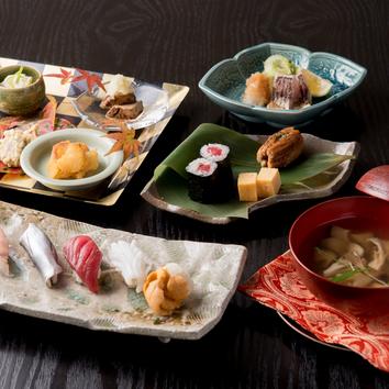 鮨と日本料理のコース