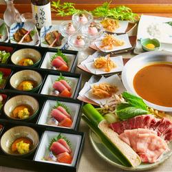 コース2時間飲み放題付き3980円、料理のみ2980円