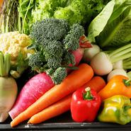 その日の朝採れたばかりの野菜は、生命力を感じるほど新鮮。繊維一つひとつにみずみずしさを感じます。葉野菜は、翌日に持ち越さないなど、一皿の味わいへのこだわりも一際です。