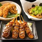 お酒も進むこと間違いなしの名古屋の定番グルメ。『どて煮』『味噌串カツ』『手羽先』、経験豊富な料理人が手掛ける名古屋めしを賞味あれ。