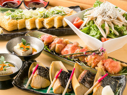 季節の食材を使用した飲み会や各種ご宴会にピッタリなコースとなっております。