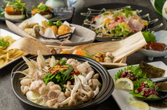 肉(鶏・牛・豚・鴨)と旬の野菜をたっぷり味わえる《秋の味覚!肉の山里コース》です。
