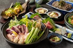 忘年会に!旬の海鮮料理と贅沢なお肉を使用した、大満足《大粒しじみ出汁!寒鰤しゃぶしゃぶコース》です。
