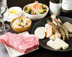 <全9品>季節の焼き野菜や旬の海鮮(海老、帆立、旬の海鮮)を味わえる