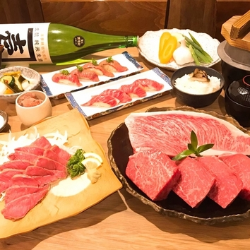 【肉の満会コース4980円】メインは炭火神戸牛ステーキ120g!!