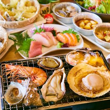 ■蓮-ren■7品+2時間飲放付【本場博多の水炊き付!旬の味覚堪能】