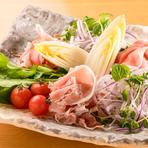 生ハムと旬菜のサラダ