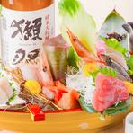 美しい見た目と食材本来の旨みを◎新鮮な旬魚のお刺身。