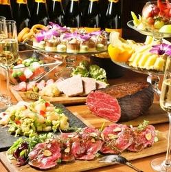 2時間シャンパン飲み放題コース(ヴーヴクリコ)+料理全9品 MEZZOプレミアムコース!10000円!