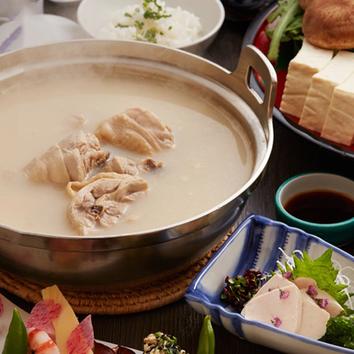 ●『小桜プラン』匠の大山どり水炊きや揚げ物など7品