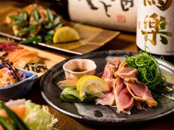 地鶏の水炊き鍋など料理9品と、飲み放題付きのボリューム満点なご宴会プランです!