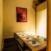 大切なゲストを招いての会食に。プライベートな個室空間