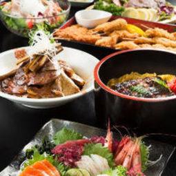 自慢のお造り5種盛や鰻ご飯など量・質をバランス良く『宴会コース[竹]』|宴会・飲み会・歓送迎会