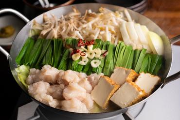 極上のこだわりスープと、米沢牛の小腸を100%使用した『もつ鍋』